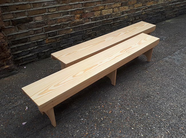 REPLICA ANDERSON SHELTER BENCHES - GUNNERSBURY PARK COMMISSIONED WORK